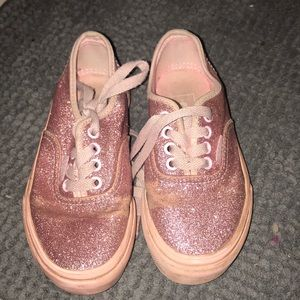 Vans sparkle bomb pink girls 11.5 used Laceup shoe
